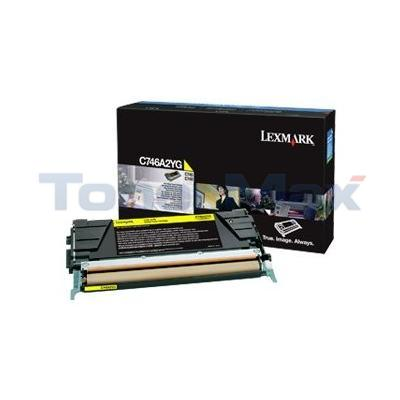 LEXMARK C746 TONER CARTRIDGE YELLOW